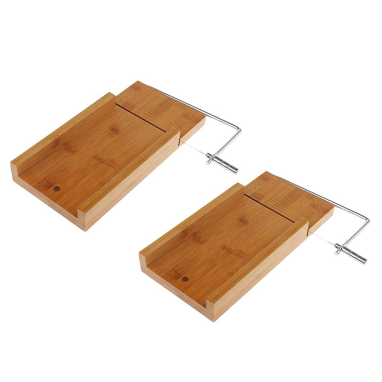 パケットベイビー本質的ではないD DOLITY ソープカッター 台 木質 チーズナイフ せっけんカッター ワイヤー ソープスライサー 2個入り