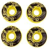 IPOTCH 4 x Skateboard Räder Set Skateboard Rollen Longboard Wheel Set - Gelb