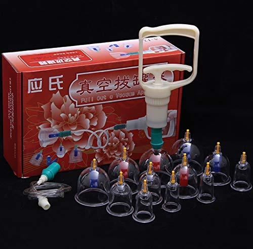 Alternative Medizin Schröpfen Glas, 12 Dosen Von Dicken Magnetischen Magnetischen Vakuum Schröpfen Gerät Luftpumpe Typ Schröpfen Haushaltsgaskanister Gesetzt