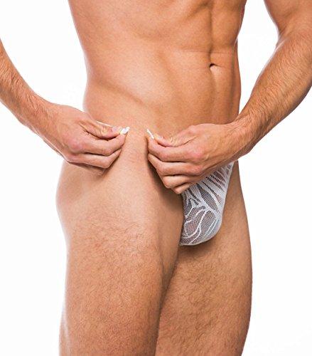 Kiniki Allure Sexy Männerunterwäsche Fizzy Clip Side Klassische Schmale Unterhose Weiß (L)