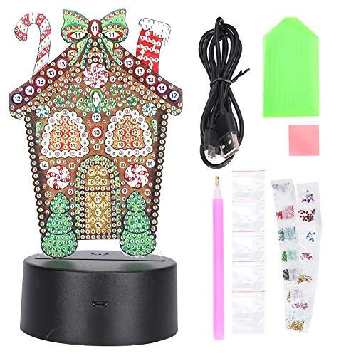 YIHEXUANkeji Diamantgemälde Nachtlichter LED Smart Touch Sensor 3D USB Weihnachten DIY Home Dekoration Diamant Malerei Ornamente