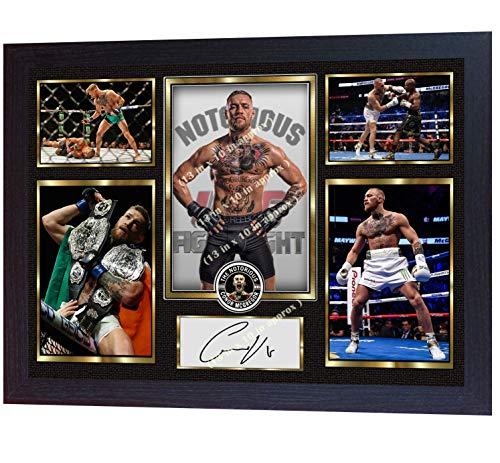 SGH SERVICES Gerahmtes Poster Conor McGregor UFC MMA Fotodruck, vorgedruckt, gerahmt, MDF-Rahmen
