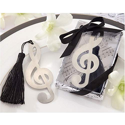 BERON Metal Music Bookmark with Elegant Silk Tassel (Set of 10)