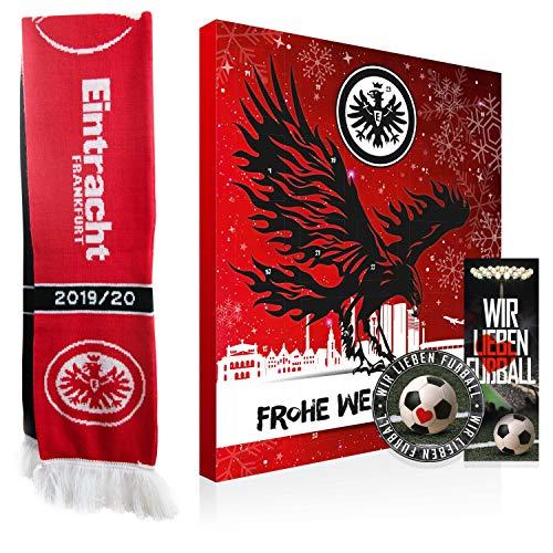 Eintracht Frankfurt Premium Adventskalender mit Poster Plus gratis SGE Schal (A/L Wir)
