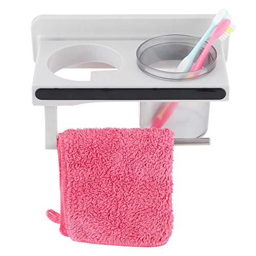 Fybida Estante para secador de Pelo anticorrosión Plástico ABS Impermeable Estante de Almacenamiento montado en la Pared Estante de baño Soporte para secador de Pelo Suministros de baño