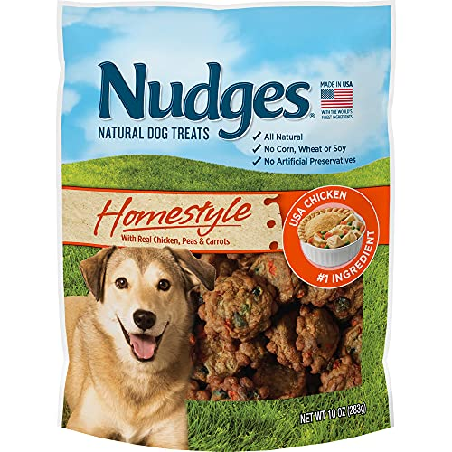 Nudges Natural Dog Treats Homestyle Made with Real Chicken, Peas, and...