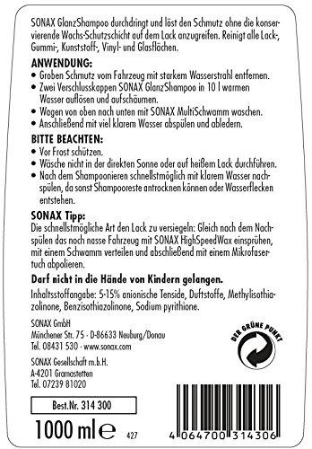 SONAX(ソナックス)カーシャンプーグロスシャンプー314300