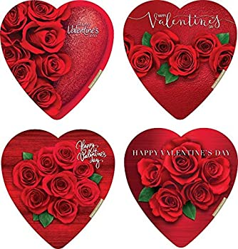 Elmer Chocolate Valentine s Day Rose Bouquet Design Heart Shaped 6 Ounce Chocolate Gift Box
