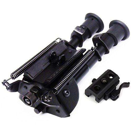 6-9 pulgadas Bípode pivotante para rifles de caza y tiradores de precisión patas ajustables Bípode oscilante + QD Bi-pod adaptador