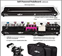 BoxKing Rechargeable Self Powered Pedal Board 19x5 W/Soft Case. Pedalboard built-in batteries bank 12800mAh.Noise free lasting 8-14hours. No need plug your pedals into the wall!Very Convenient! [並行輸入品]