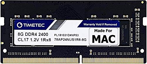 Timetec Hynix IC compatible with Apple 8GB DDR4 2400MHz PC4-19200 SODIMM Memory Upgrade For iMac Retina 4k/5K 21.5-inch/27-inch Mid 2017 8GB(Single Rank)