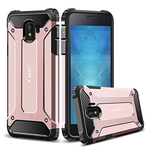 JundD Kompatibel für Galaxy J2 Core Hülle, [ArmorBox] [Doppelschicht] [Heavy-Duty-Schutz] Hybrid Stoßfest Schutzhülle für Samsung Galaxy J2 Core - Rose Gold