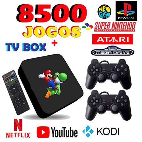 Video Game Retro com 8500 jogos 2 controles