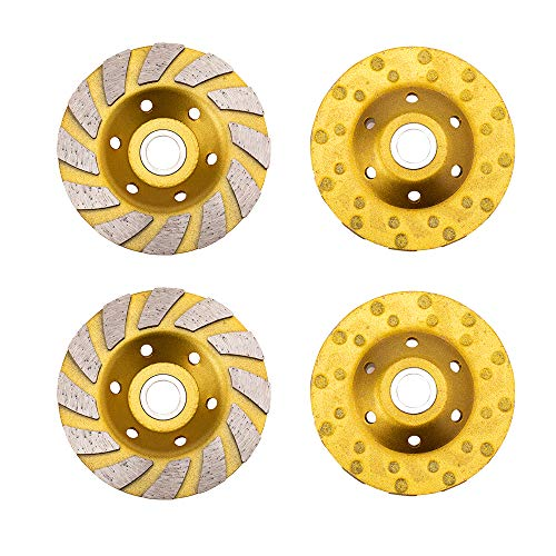 Erduoduo 2Pack 4 Inch Diamond Cup Grinding Wheel 12 Segs Heavy Duty Angle Grinder Wheels for Angle Grinder