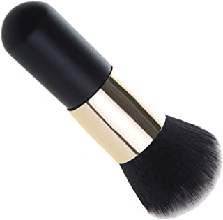 Sinide Foundation Kabuki Blush Brush Face Powder Travel Makeup Brushes - Handle Large Round Head Mineral Blending Blush Cosmetic Tool Perfect For Blending Liquid, Cream, Buffing, Concealer(Black Gold)