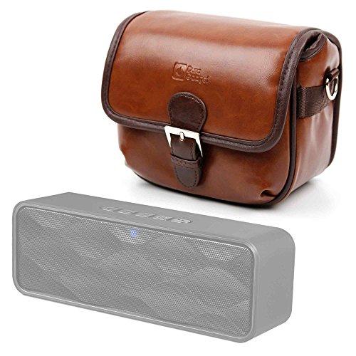 DURAGADGET Bolsa Profesional marrón con Compartimentos para Altavoz Portátil Trust Polo Compact...