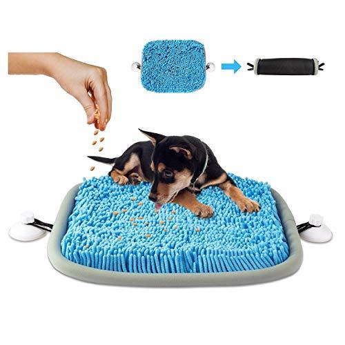 look envy Schnüffelteppich für Hund, rutschfest Haltbare Waschbar Schnüffelkissen mit 2 Saugnapf Langsame Fütterung Intelligenzspielzeug, Blau
