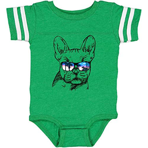 inktastic French Bulldog Infant Creeper 12 Months Football Green and White 2a719