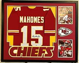 Patrick Mahomes Autographed Signed Custom Framed Kansas City Chiefs Jersey Beckett Coa3