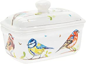 The Leonardo Collection Country Life Birds Butter Dish