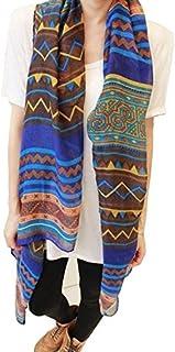 Fashion Women Long Voile Tribal Aztec Scarf Shawl Muslim Hijab Bohemian Voile Scarf