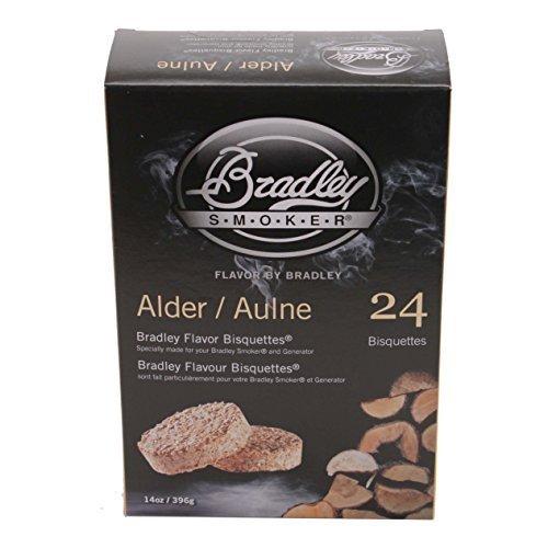 Bradley Smokers BTAL24 Alder Bisquettes Smoker, paquete de 24 por Bradley Smokers
