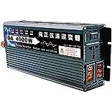 CHEIRS Inversor de energía de Onda sinusoidal Pura 3000W / 4000W 12V / 24V / 48V / 60V / 72V DC a AC 110V 120V Transformador convertidor, Pantalla LCD Dual,48vTo110v-4000W