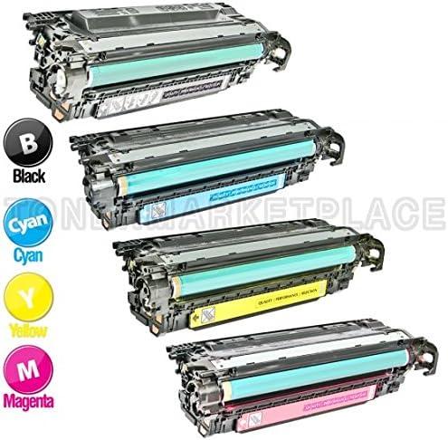 4 HP Compatible Laserjet CP3520/CP3530 Toners 1(Bk,C,M,Y) CE250A CE251A CE252A CE253A