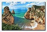 wandmotiv24 Leinwandbild Schöne Aussicht auf die Küste