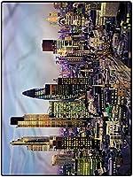カーペット はっ水加工 薄い 敷きマット 140*200 シティアウトドアパティオラグランドリールームラグコージーソフト&プラッシュラグモダンアーキテクチャロンドン オールシーズンタイプ 防臭 ベッド