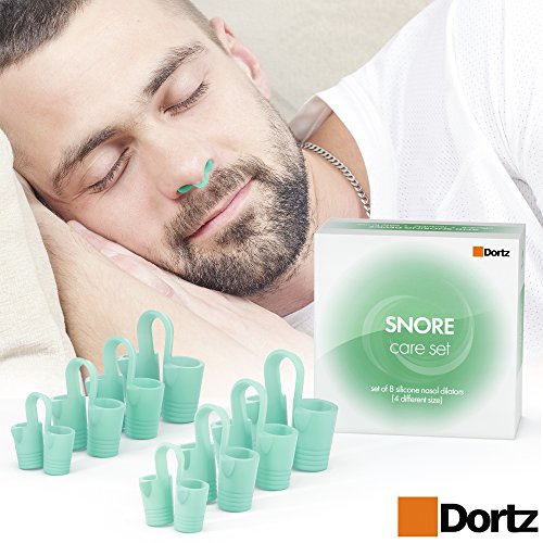 Anti Snoring by Dortz - Stop Snoring Nose Vents - Snoring Solution Anti Snore Device - Set of 8 Nasal Dilators - Snore Stopper