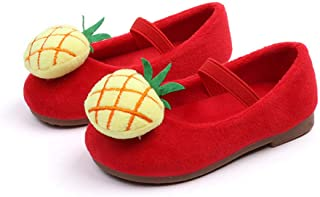 ◕。Kids Baby Infant Girls Autumn 3D Cartoon Flat Shoes Winter Mary Janes Shoes Walking Shoes Sneaker Xmas Shoes