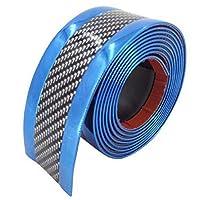 [シャンディニー] ドアエッジプロテクター カーボン ドアエッジガード 車 プチカスタム 傷避け 3cm×1m ブルー