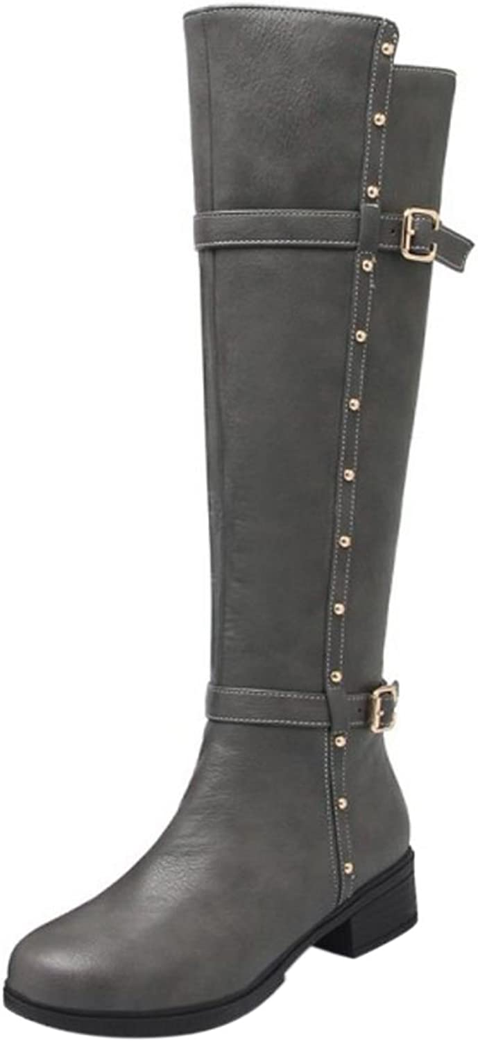 FizaiZifai Women Fashion Riding Boots Zipper