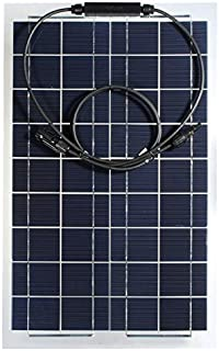 NeitKaarsh India 30W 12V Mono Semi Flexible Solar Panel Battery Charger for RV Boat Smart Car Single Item.