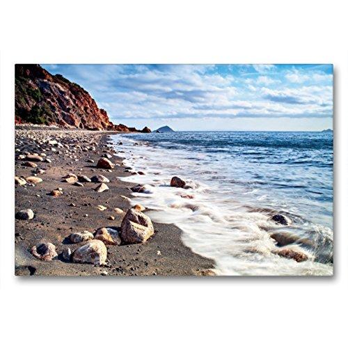 CALVENDO Val Thoermer Orti - Tela in Tessuto di Alta qualità, 90 x 60 cm, Formato Orizzontale, Soggetto: Spiaggia con Cavo sull'isola Elba