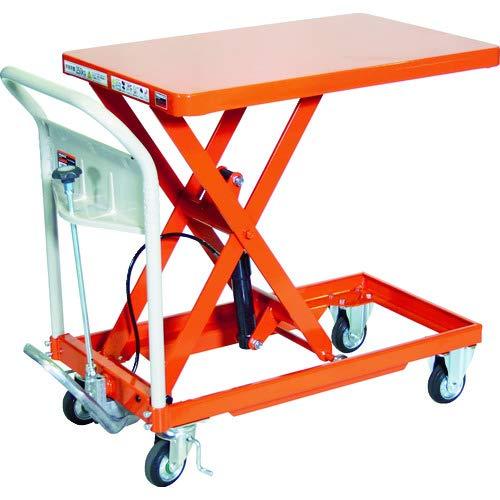 TRUSCO(トラスコ) ハンドリフタ 250kg 500X800 オレンジ HLFA-S250
