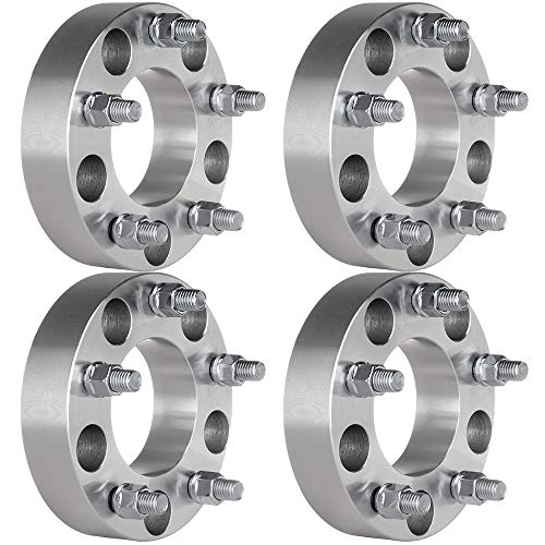 GDSMOTU 4PCS Wheel Spacers for Fo-rd 5 Lug 1.5' Wheel Spacers 5x135 with 14x2 Studs for 1997-2003 for Fo-rd F-150 2001-2002 for Lincoln Blackwood