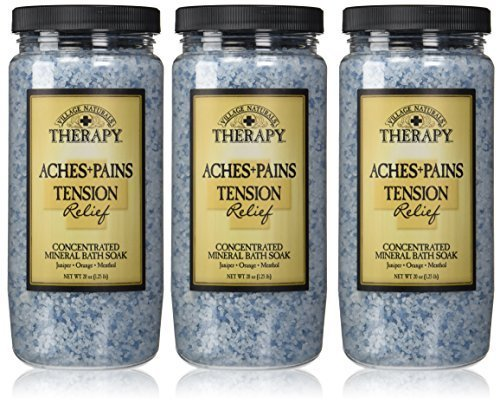 Village Naturals Therapy Tension Relief Mineral Bath Soak 20 ounce (3-pack) by Village Naturals
