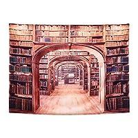 OUNONA 魔法の図書館 タペストリー 本棚柄 インテリア 雰囲気を一変 壁掛け装飾