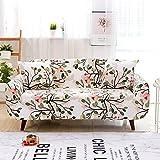 WXQY Funda de sofá con Estampado Floral Europeo elástico Todo Incluido, Funda de sofá Antideslizante Funda de sofá de Esquina en Forma de L A10 3 plazas