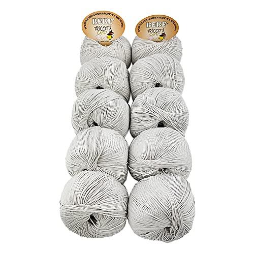 TRICOT CAFE' Oferta ovillos de algodón para bebé en paquete de 10 unidades Made in Italy 100%...