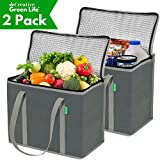 XL Insulated Shopping Bags for Groceries (2-Pack) - Premium Quality Cooler Bag – Washable,...