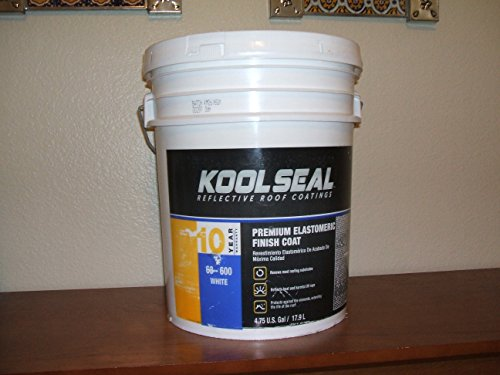 KST COATINGS  KST063600-20 Elastomeric Roof Coating, 5-Gallon