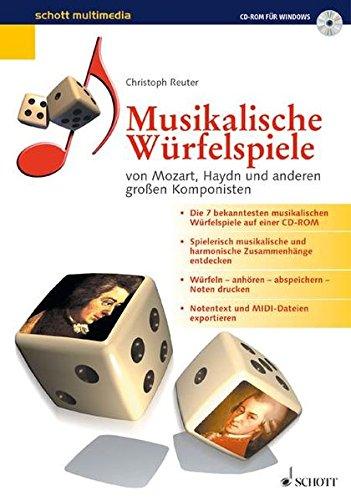 Preisvergleich Produktbild Musikalische Würfelspiele,  1 CD-ROM ... von Mozart,  Haydn und anderen großen Komponisten. Für Windows 95 / 98. Aus Tabellen werden Takt-Kombinationen gewürfelt,  die so klingen,  als wären sie ganz individuell komponiert