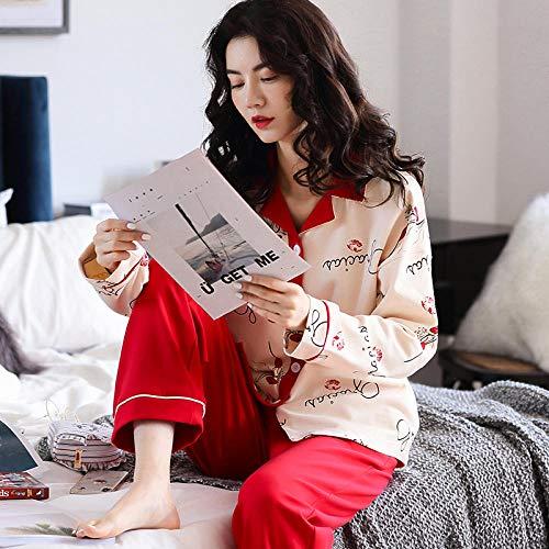 uwant:)sexy clothes Pyjamas Frauen Frühling und Herbst Baumwolle Langarm süße süße Strickjacke kann außerhalb der Freizeitkleidung Herbst getragen Werden @ M_AZM77169