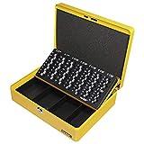 HMF 10015-17 Caja de caudales, bandeja para contar monedas 30 x 24 x 9 cm, amarillo