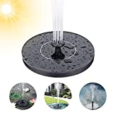 phixilin Solar Springbrunnen, Solar Teichpumpe Outdoor Wasserpumpe Solar Schwimmender Fontäne Pumpe mit 1.4W Monokristalline Solar Panel Solarpumpe für Garten, Vogel-Bad, Teich, Fisch-Behälter
