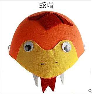Fashion Cartoon animal headdress hat Halloween Cosplay show Christmas performance cap props birthday gifts 2 (snake hat)