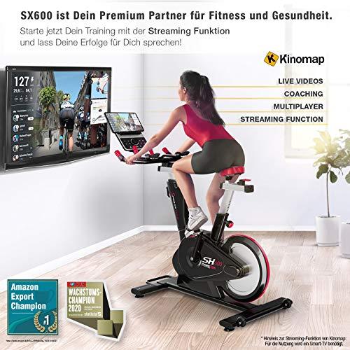 Sportstech SX600 Elite Indoor Cycle Bike Fitness Bild 4*
